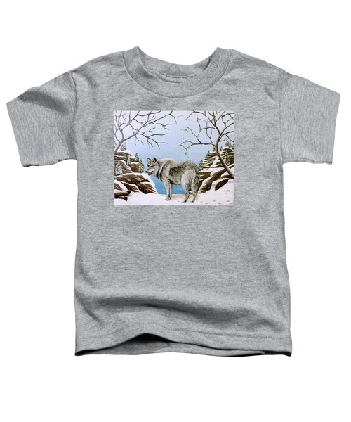 Wolf In Winter Toddler T-Shirt