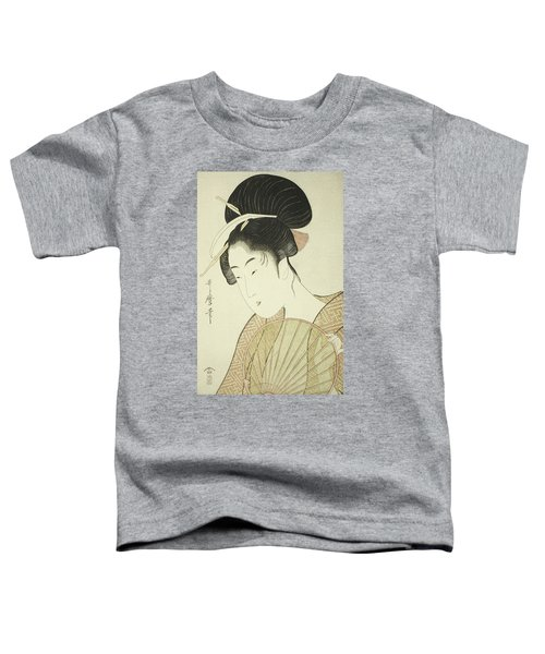 Woman Holding A Round Fan Toddler T-Shirt