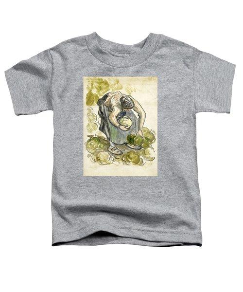 Woman Picking Cabbage Toddler T-Shirt