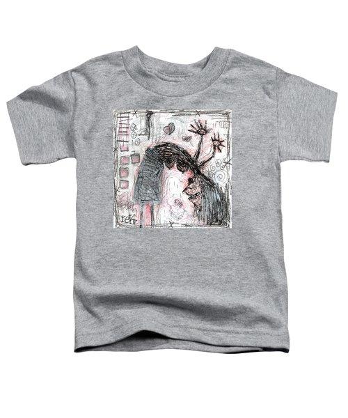 Woman Walking Upside Down Toddler T-Shirt