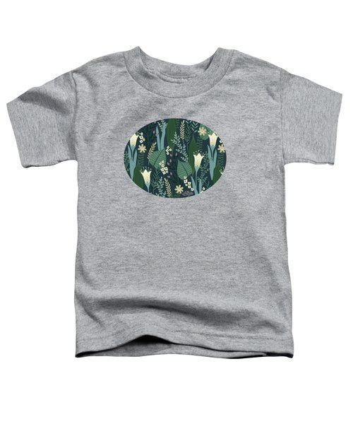 Wonderful Mid Century Style Garden Patten  Toddler T-Shirt