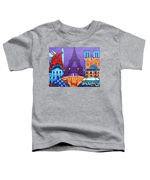 Wonders Of Paris Toddler T-Shirt