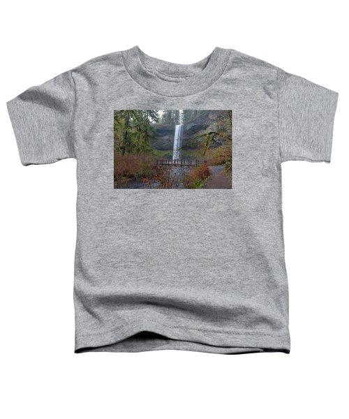 Wood Bridge On Hiking Trail At Silver Falls State Park Toddler T-Shirt