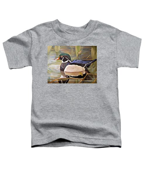 Wood Duck On Pond Toddler T-Shirt