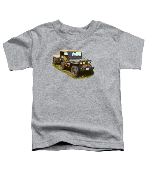 World War Two Army Jeep With Trailer  Toddler T-Shirt