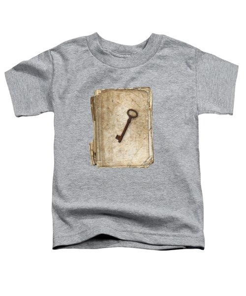 Worn And Tattered Book And Old Rusty Key Toddler T-Shirt