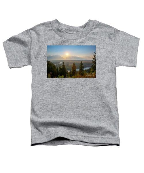 Wyoming Sunset At Snake River Toddler T-Shirt