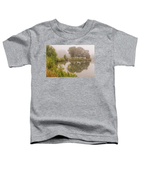 Misty Pond Bridge Reflection #5 Toddler T-Shirt
