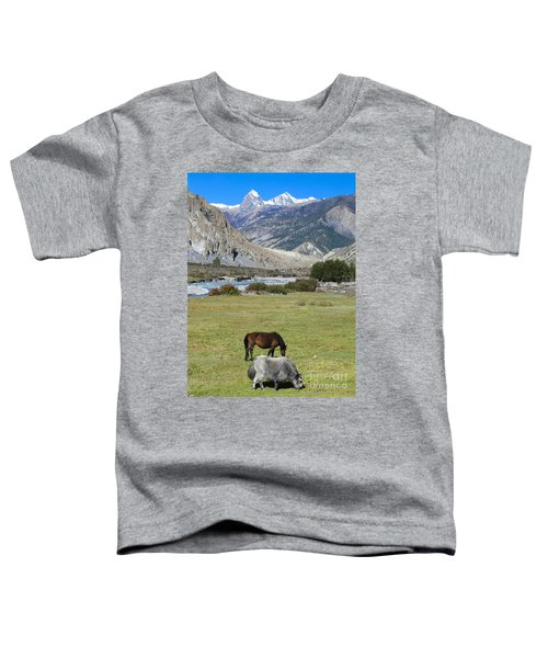 Yak And Horse Toddler T-Shirt