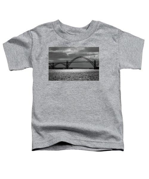 Yaquina Bay Bridge Black And White Toddler T-Shirt
