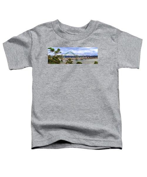 Yaquina Bay Bridge Panorama Toddler T-Shirt