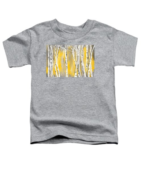 Yellow And Gray Birch Trees Toddler T-Shirt