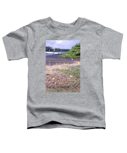 Yellow Butterflies At The Beach Toddler T-Shirt