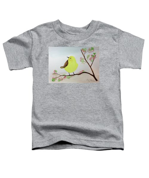 Yellow Chickadee On A Branch Toddler T-Shirt