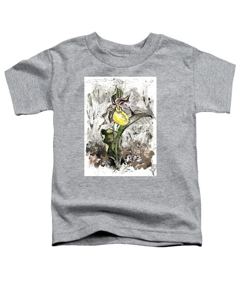 Yellow Lady's Slipper Toddler T-Shirt