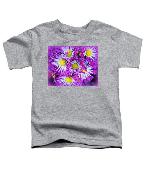 Yellow Purple And White Toddler T-Shirt