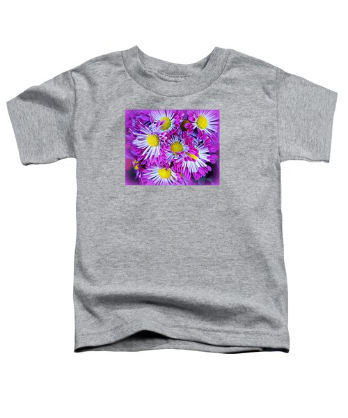 Yellow Purple And White Toddler T-Shirt