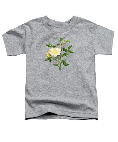 Yellow Watercolor Rose Toddler T-Shirt