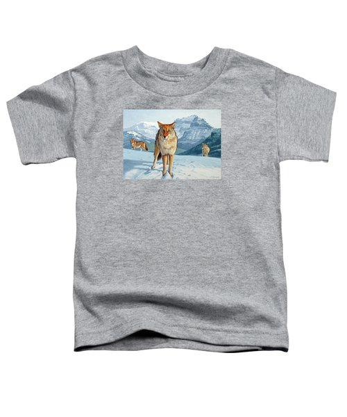 Yellowstone Coyotes Toddler T-Shirt by Paul Krapf