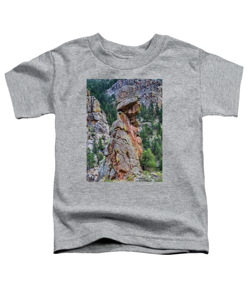 Toddler T-Shirt featuring the photograph Yogi Bear Rock Formation by James BO Insogna