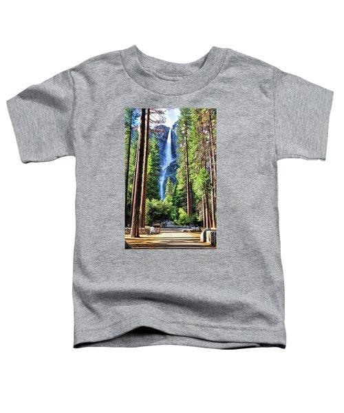 Yosemite National Park Bridalveil Fall Trees Toddler T-Shirt