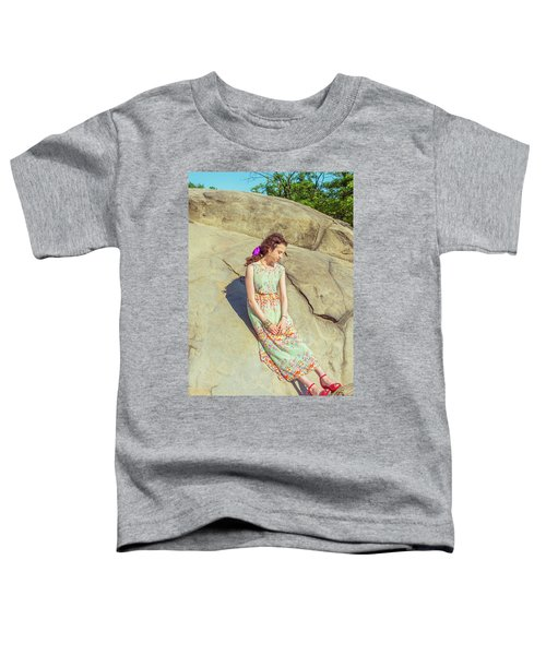 Young American Woman Summer Fashion In New York Toddler T-Shirt