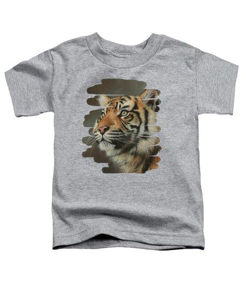 Young Sumatran Tiger Portrait Toddler T-Shirt