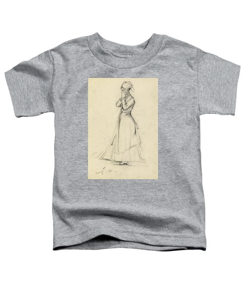 Young Woman With A Broom Toddler T-Shirt