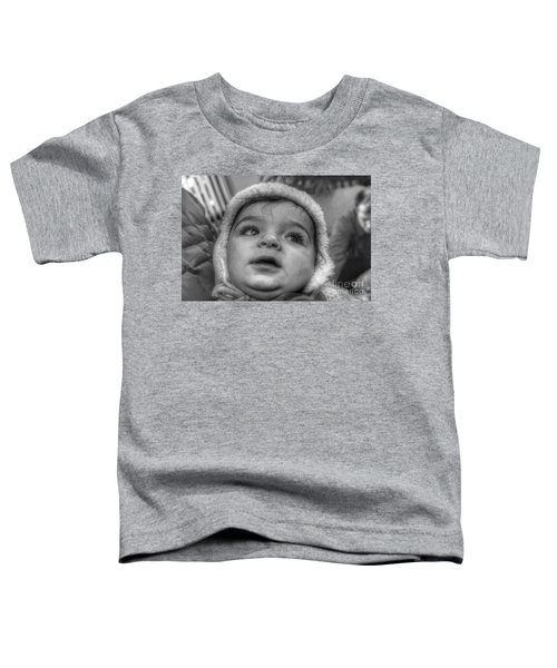 Youth In A Fleece Lined Cap Toddler T-Shirt