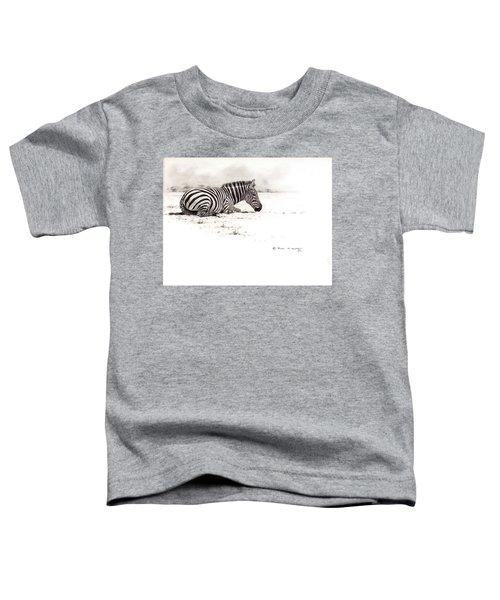 Zebra Sketch Toddler T-Shirt