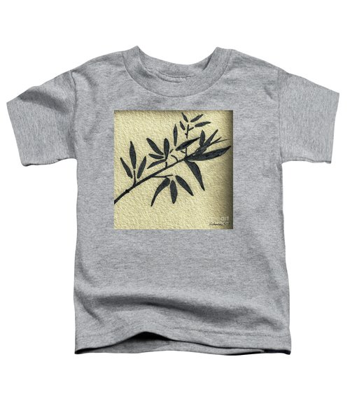 Zen Sumi Antique Botanical 4a Ink On Fine Art Watercolor Paper By Ricardos Toddler T-Shirt