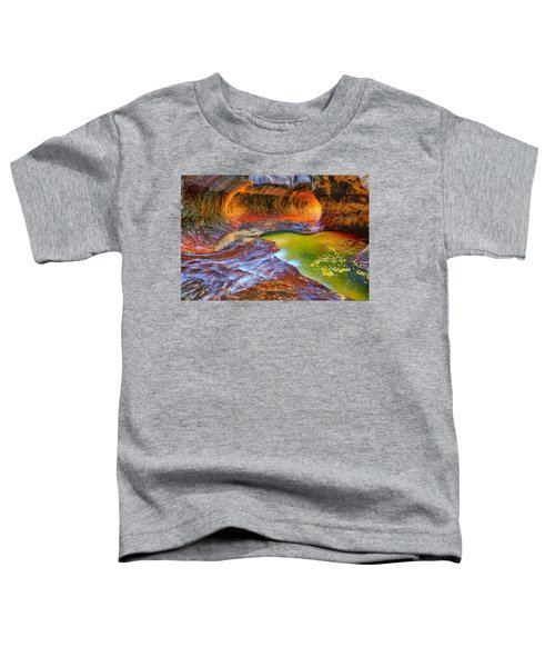 Toddler T-Shirt featuring the photograph Zion Subway by Greg Norrell