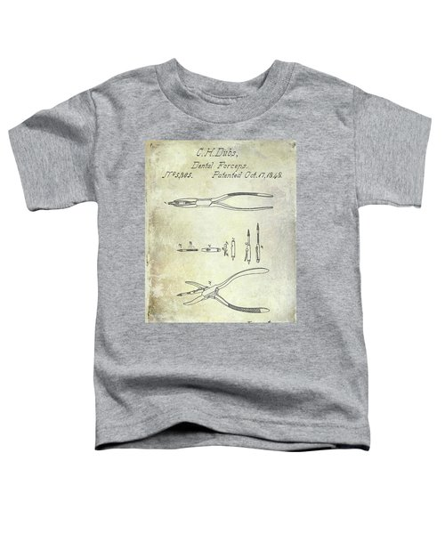 1848 Dental Forceps Patent Toddler T-Shirt