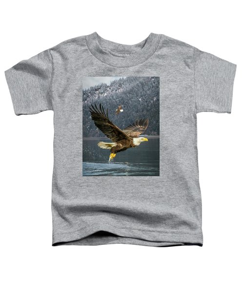 Bald Eagle With Catch Toddler T-Shirt