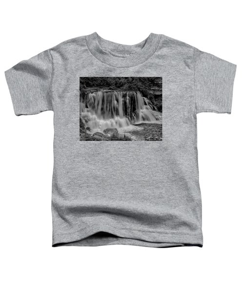 Toddler T-Shirt featuring the photograph Blackwater Falls Mono 1309 by Donald Brown