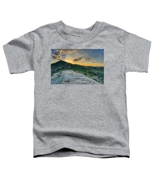 Dramatic Mountain Sunset  Toddler T-Shirt