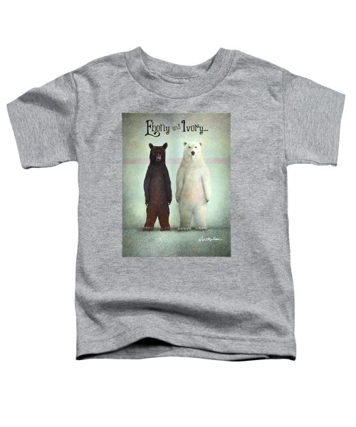 Ebony And Ivory... Toddler T-Shirt