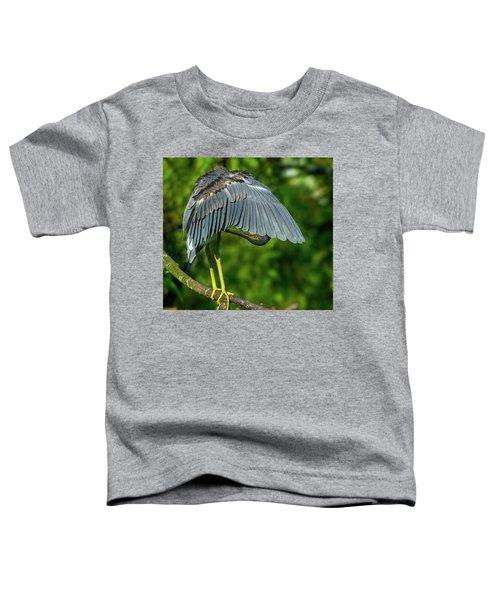 Preening Reddish Heron Toddler T-Shirt