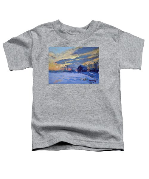 Sunset Over The Farm Toddler T-Shirt