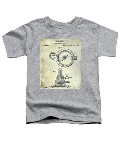 1883 Dental Spittoon Patent  Toddler T-Shirt