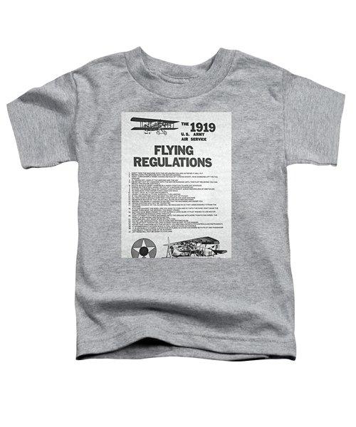 1919 Flying Regulations Poster Toddler T-Shirt