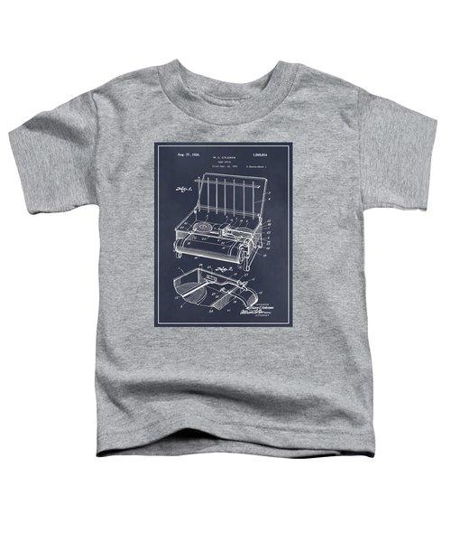 1924 Coleman Camp Stove Blackboard Patent Print Toddler T-Shirt