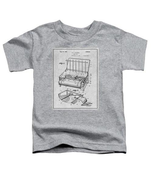 1924 Coleman Camp Stove Gray Patent Print Toddler T-Shirt