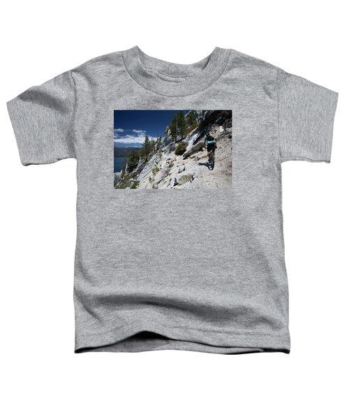 Cyclist On Mountain Road, Lake Tahoe Toddler T-Shirt