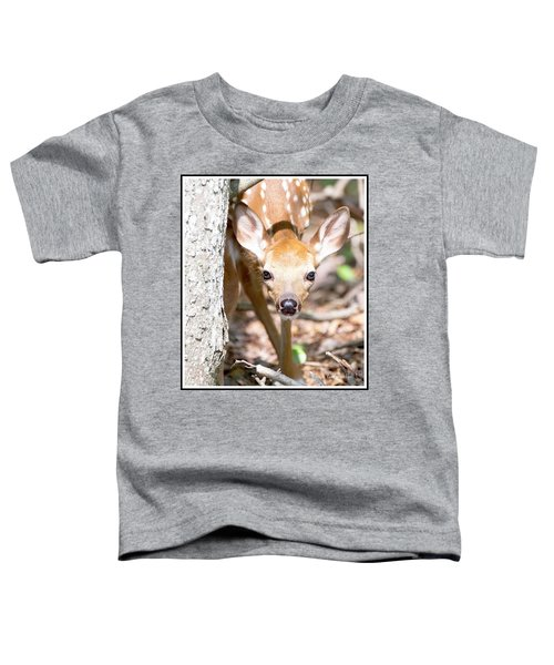 White-tailed Deer Fawn, Animal Portrait Toddler T-Shirt