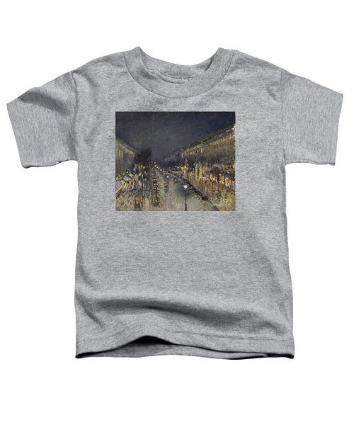 The Boulevard Montmartre At Night Toddler T-Shirt