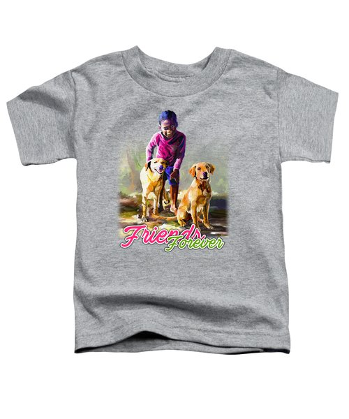 Boy And His Dogs Toddler T-Shirt