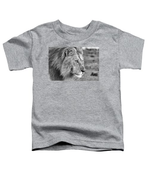 A Monochrome Male Lion Toddler T-Shirt