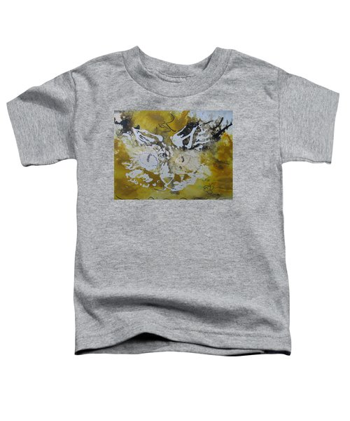 Abstract Cat Face Yellows And Browns Toddler T-Shirt