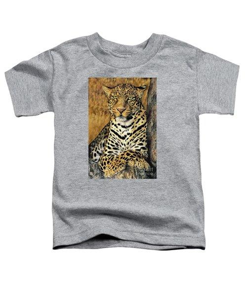 African Leopard Portrait Wildlife Rescue Toddler T-Shirt